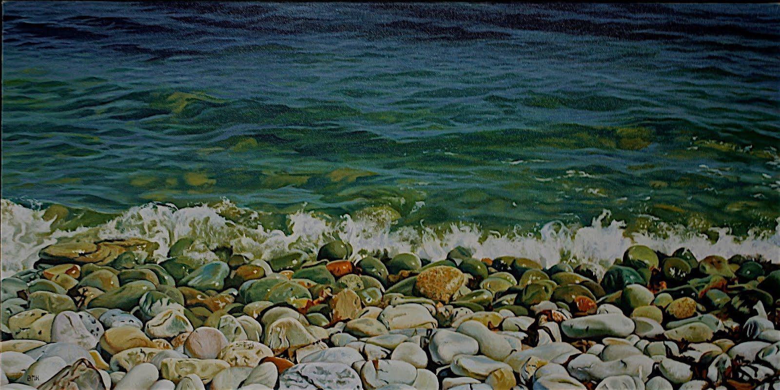 rocks at broad cove18x36