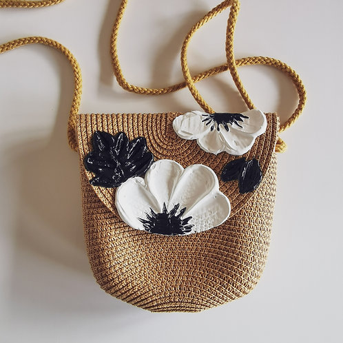 Floral Woven Bag