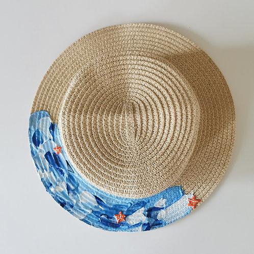 Kids Beach Straw Hat - 53cm