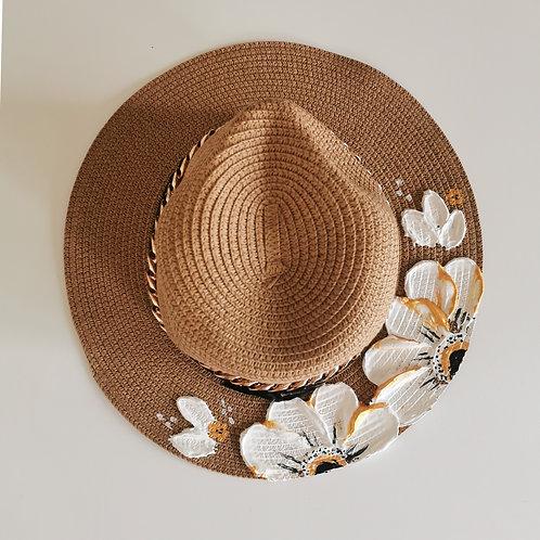 Floral Straw Hat - 58cm