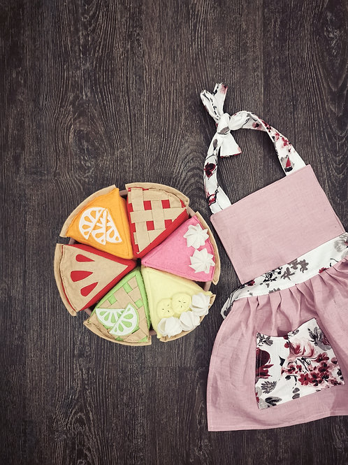 Dusty Pink+floral apron