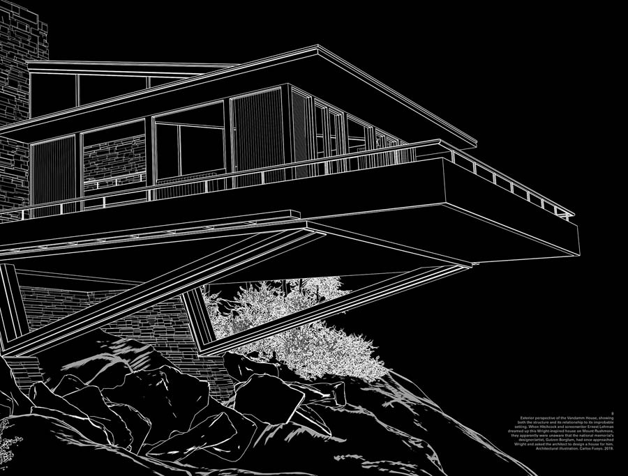 Fictitious rendering of house for North by Northwest