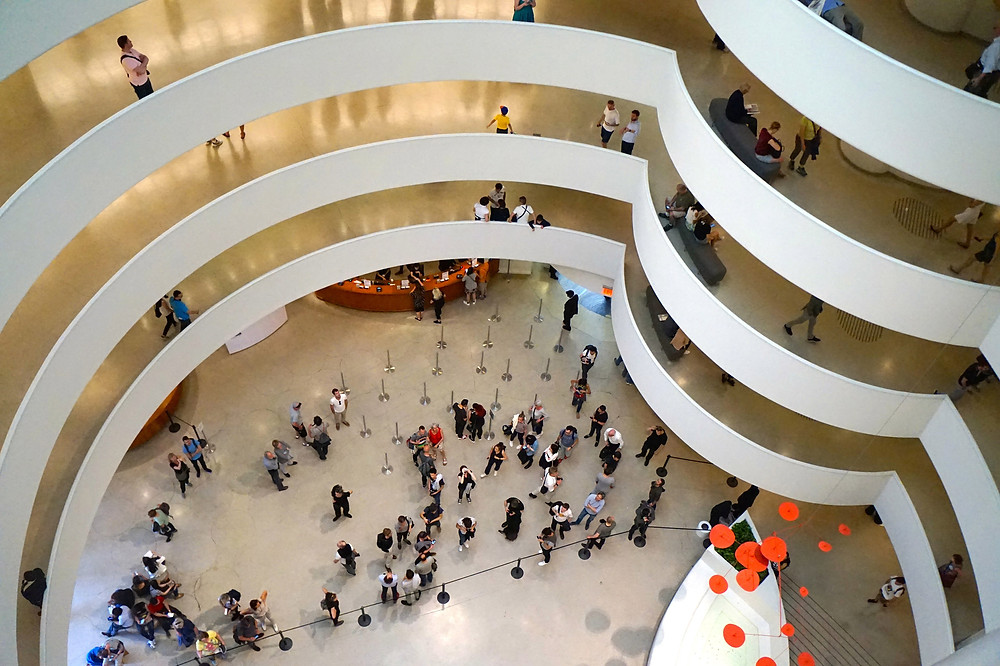 Interior Space of the Guggenheim Museum - Frank Lloyd Wright