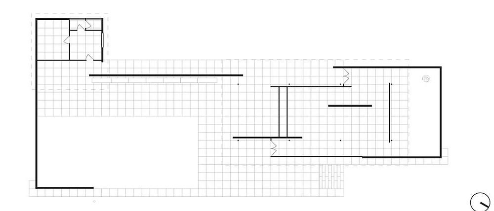 Plan of the Barcelona Pavilion 1929