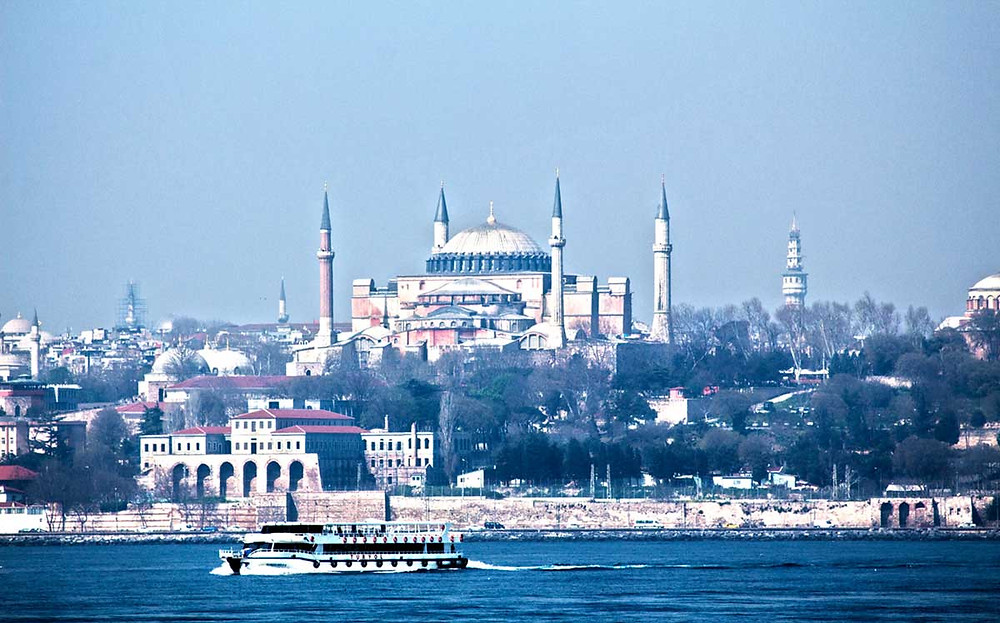 Photo of the Hagia Sofia Museum across the Bosporus