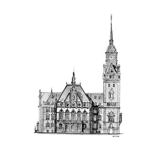 Design for Town Hall in Wiesbaden