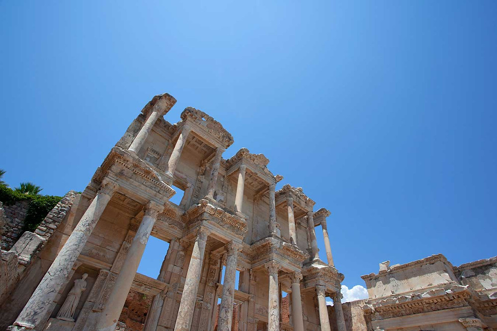 The Library of Celsus in Ephesus, Anatolia, Turkey