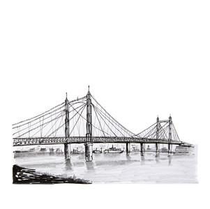 Sketch of the Albert Bridge in London, UK