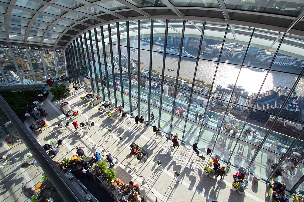 skygarden looking down at an angle