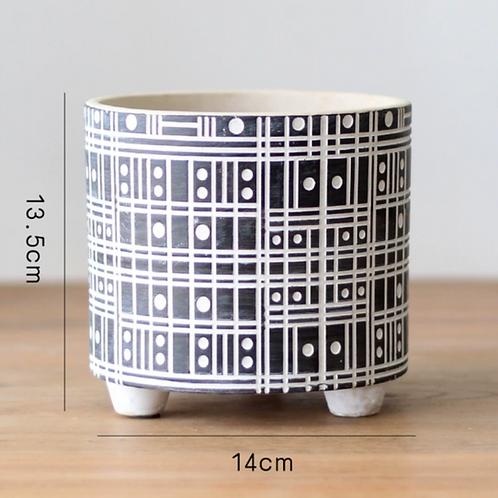 Tile Geometric Pot