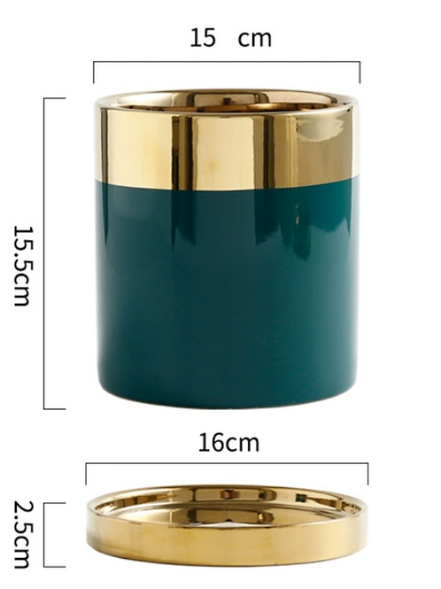 Nordic Green Gold Pot