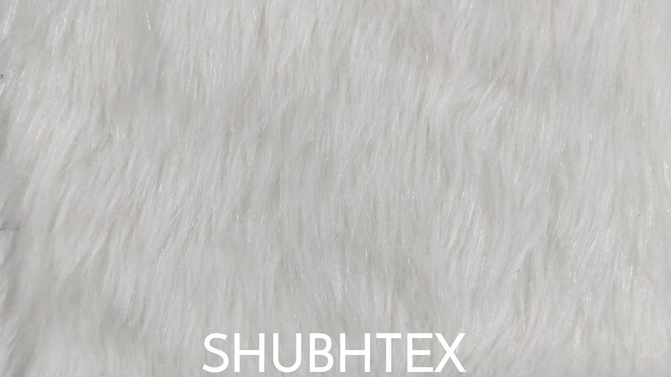 Off White Faux Fur Fabric