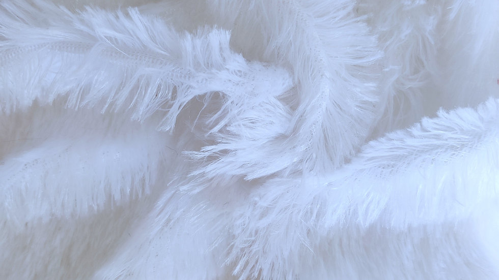 White Poly China Fur Fabric