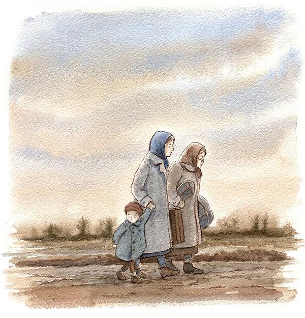 Shoa, i Bambini raccontano la Shoah, Profughi