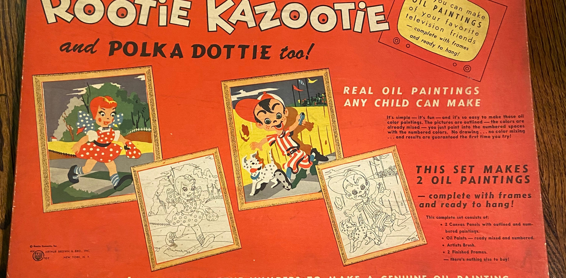 Rootie Kazootie Paint by Number Set