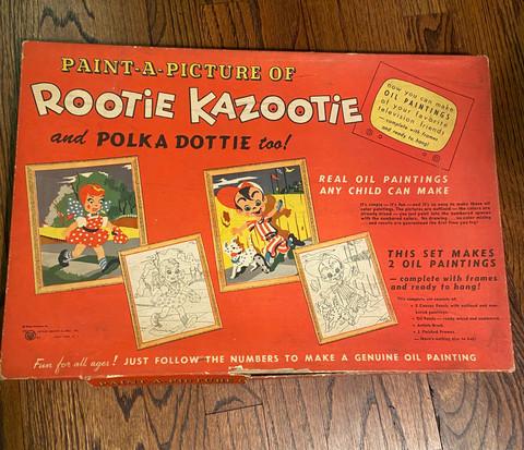 Rootie Kazootie Paint by Number Set