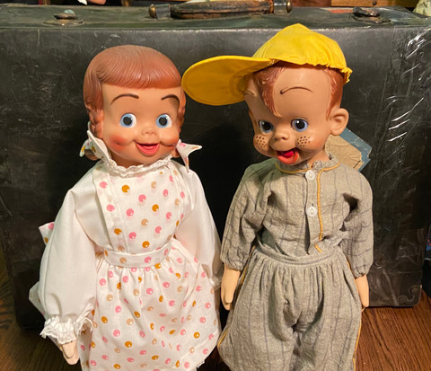 Polka Dottie & Rootie Kazootie Doll pair