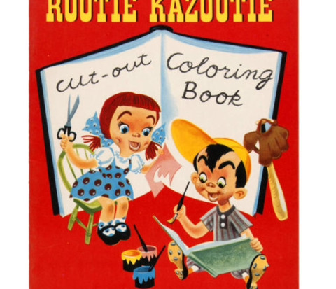 Cut Out Coloring Book