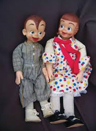Rootie Kazootie & Polka Dottie Doll pair 2