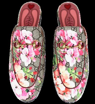 Gucci Princetown Mokassins Floral