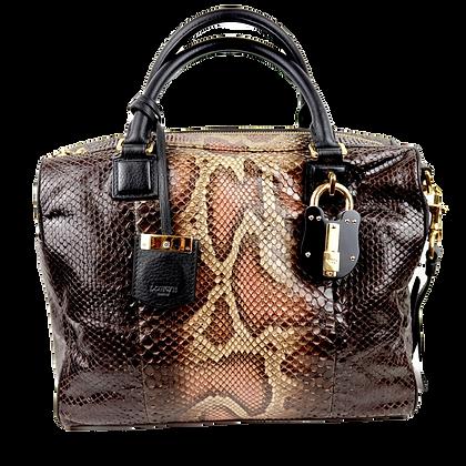 Loewe Amazona 75 Handbag Python