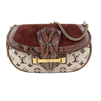 Louis Vuitton Limited Edition Empire Levant Flap Shoulder Bag