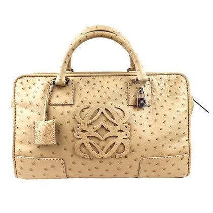 Loewe Amazona Ostrich Handbag