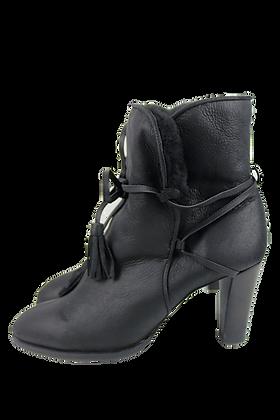 Chanel Lambfur Boots
