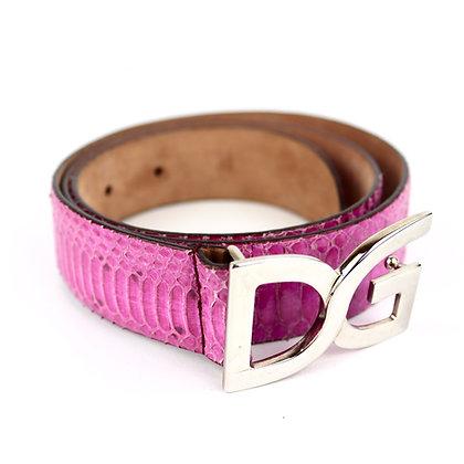 Dolce & Gabbana Belt Pink Python