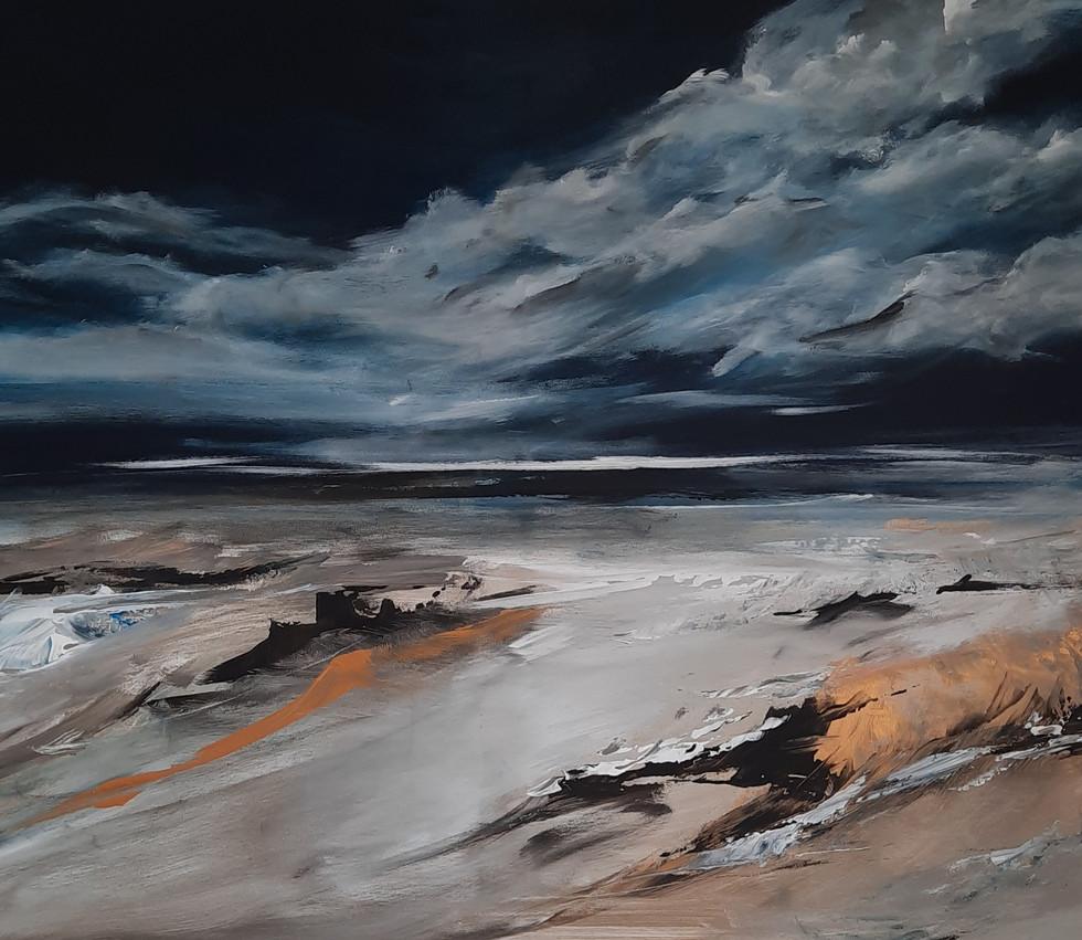 Verkocht: Vloeiende wolk 70 x 80