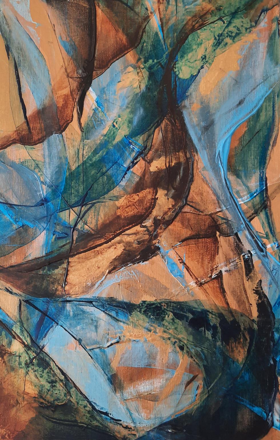 Deel 1. van drieluik:  Paradis wave 40 x 60 cm