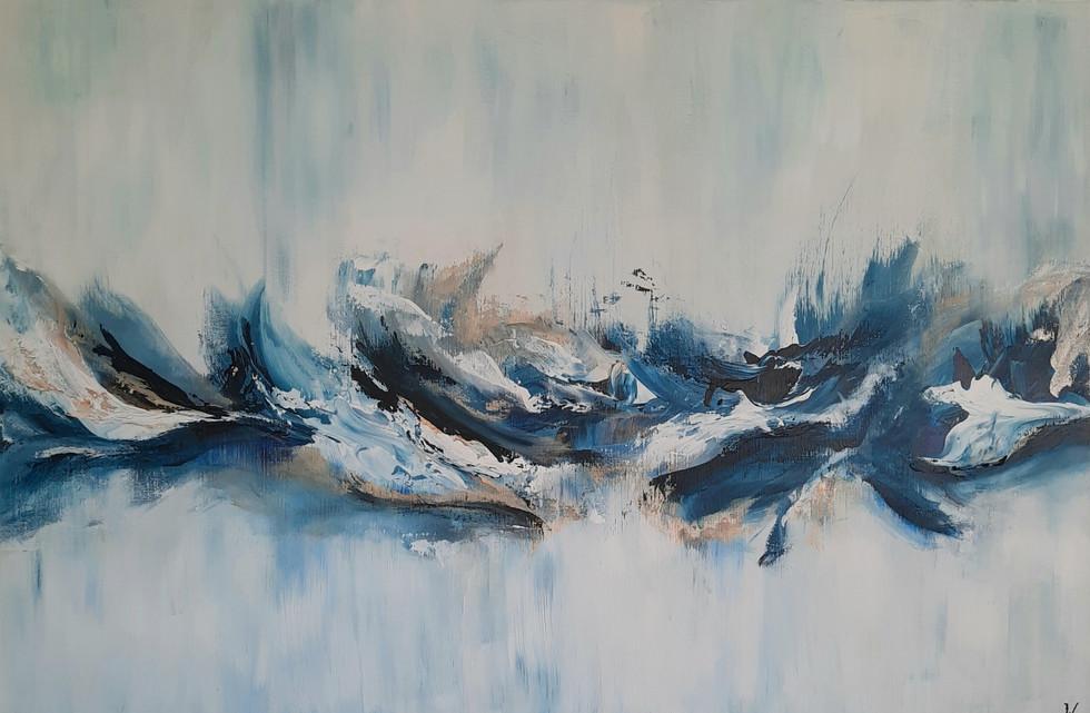 Frozen wave 80 x 120 cm