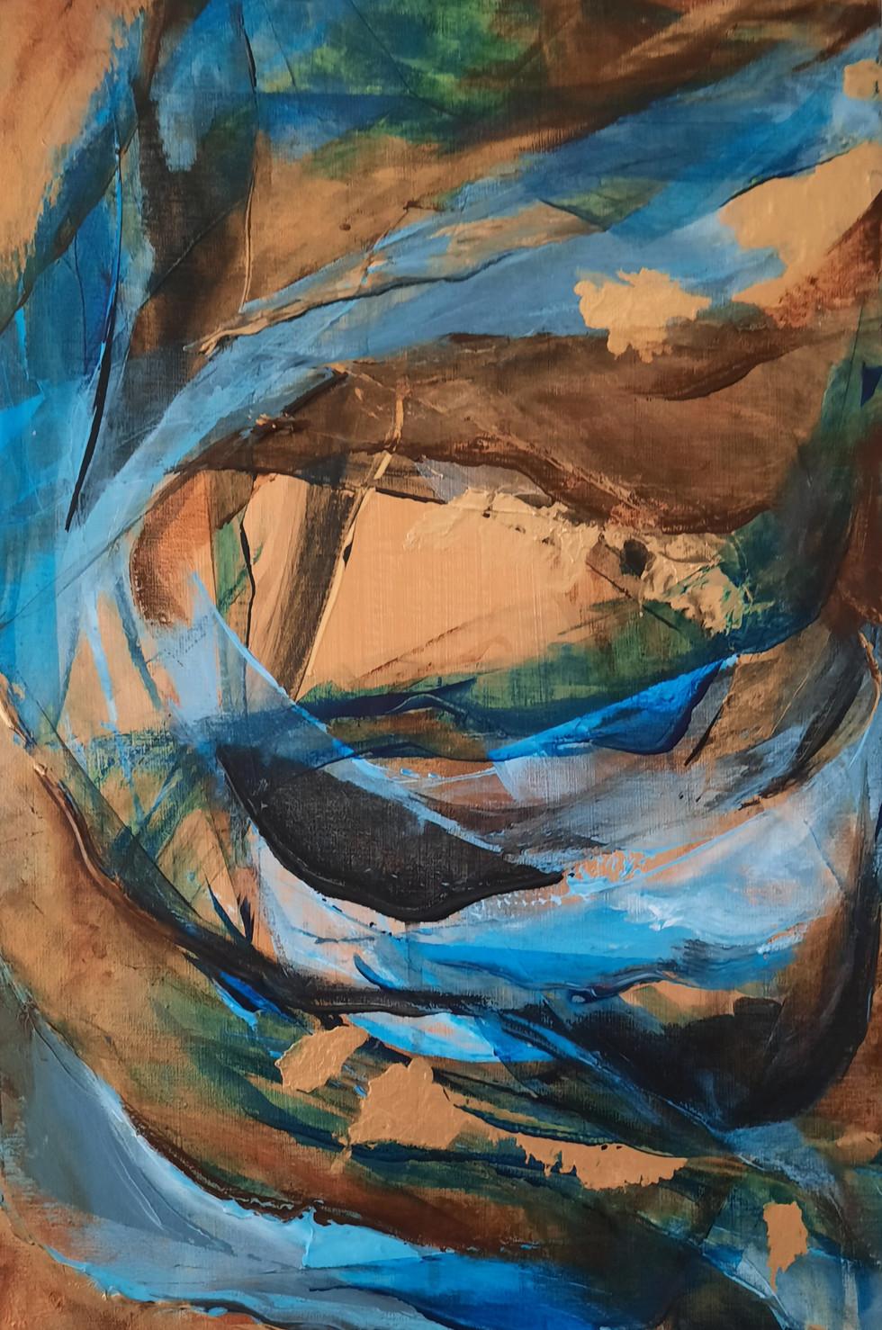 Deel 2. van drieluik:  Paradis wave 40 x 60 cm