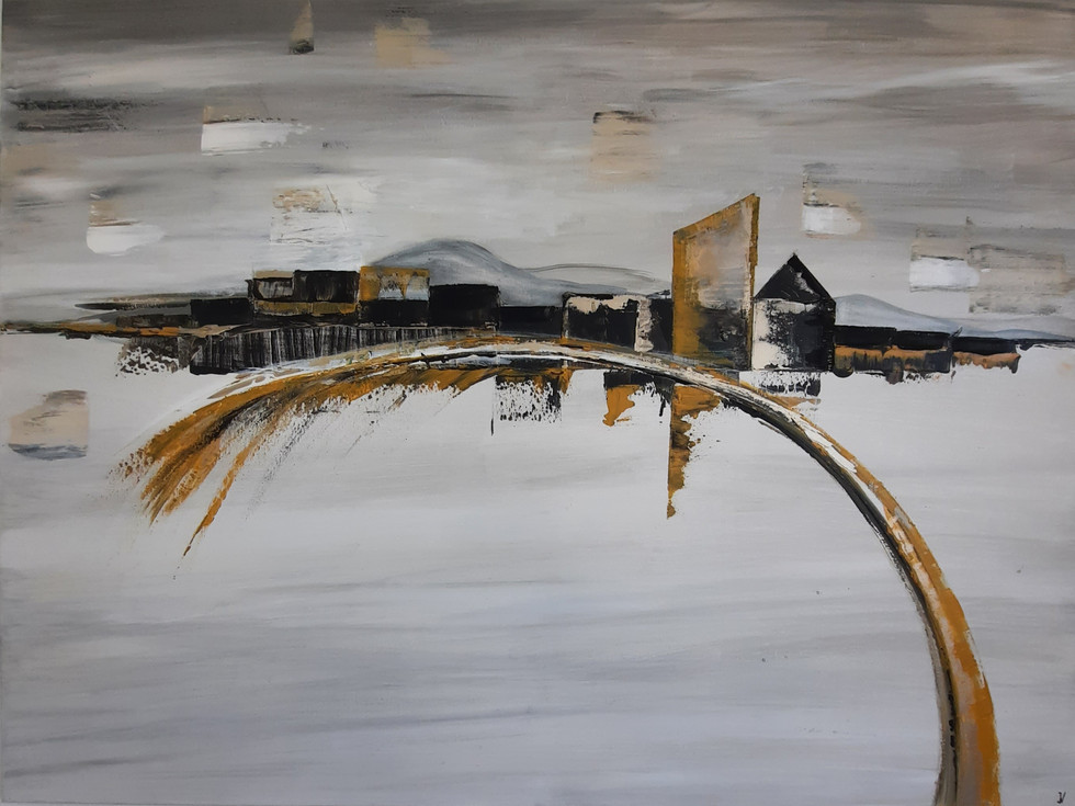 Golden winter 90 x 120 cm