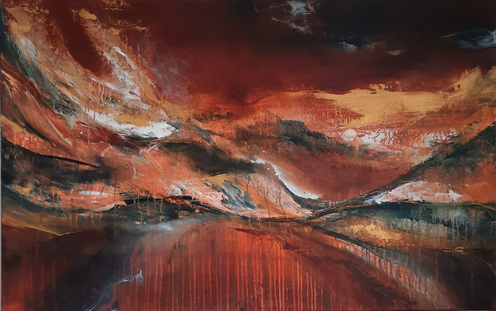 Flaming wave 60 x 80 cm
