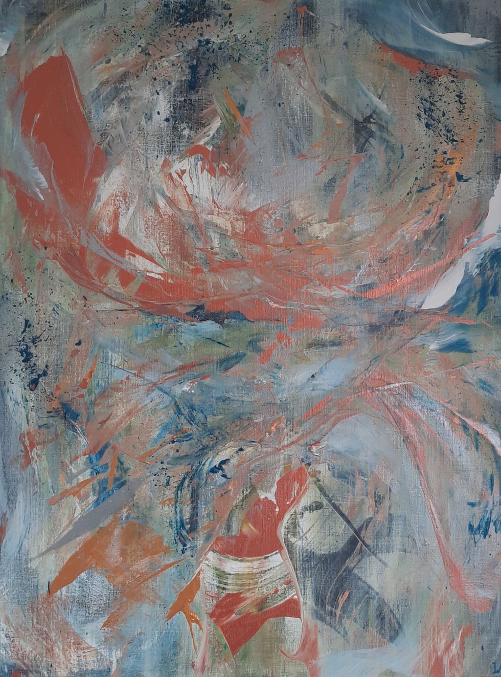 A' touch of firework wave 80 x 60 cm.
