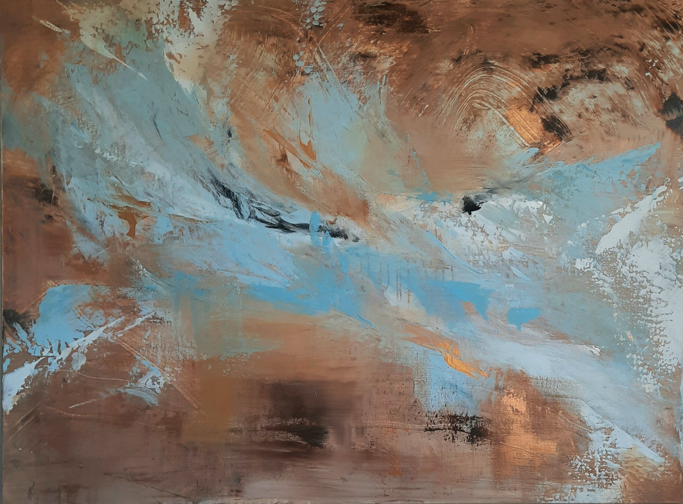 Soft oasis of peace 100 x 120 cm