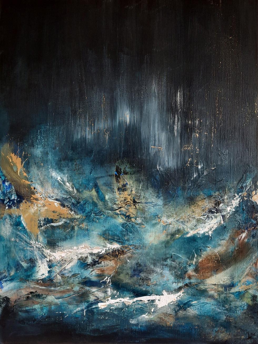 deep ocean wave 80 x 60 cm.
