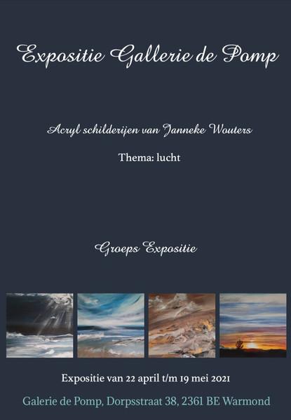 "Tentoonstelling ""Lucht"" extra Galerie de pomp"