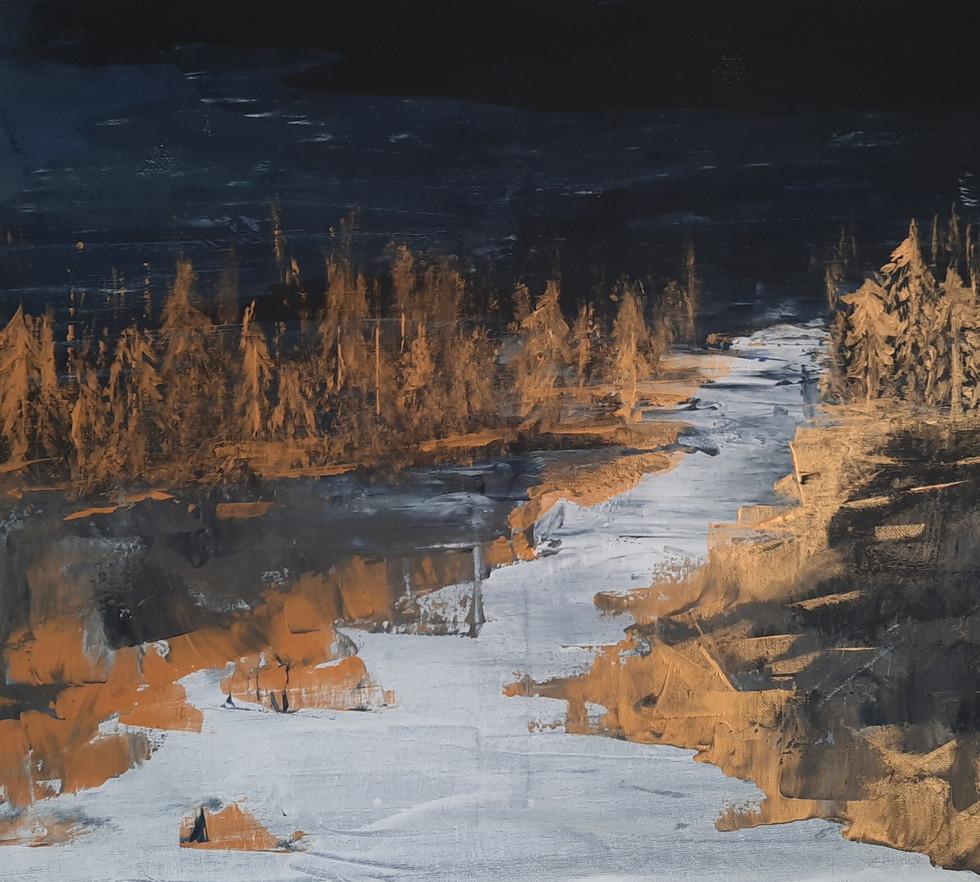 Golden winter 50 x 60 cm
