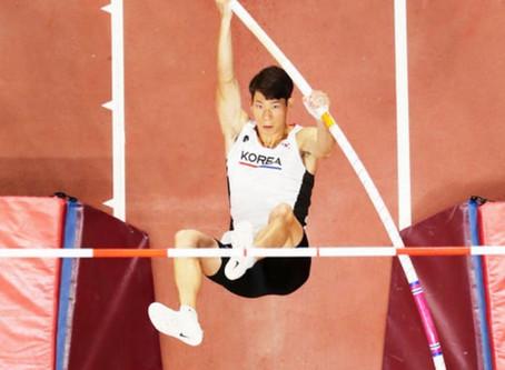 Jin Minsub: el atleta que se clasificó para Tokio 2020 con una pértiga prestada