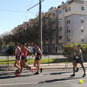 Julio César Salazar y Jesús Tadeo Vega buscando pasaporte olímpico en Murcia, España.