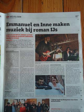 Emmanuel en Innen maken muziek bij roman IJS