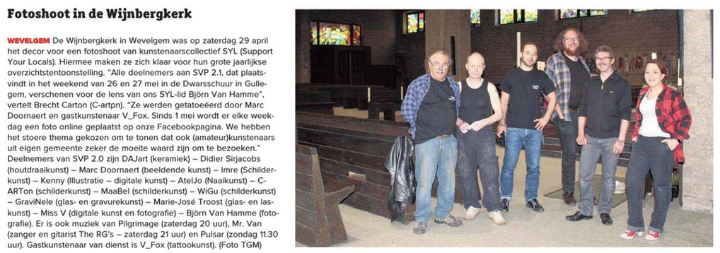 Fotoschoot in de Wijnbergkerk