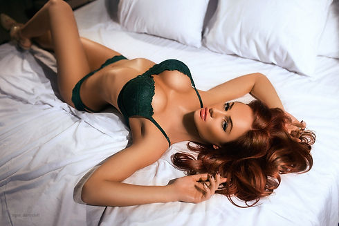 women_brunette_lying_on_back_lingerie_lo