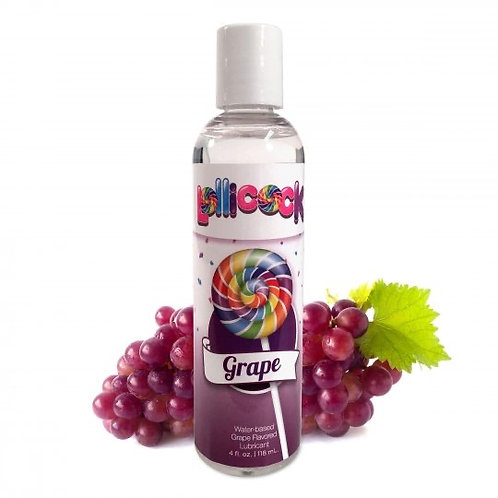 Lollicock 4 oz. Water-based Flavoured Lubricant - Grape