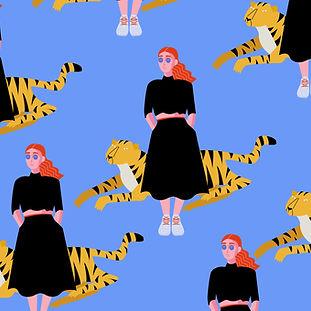 Chica con Tiger