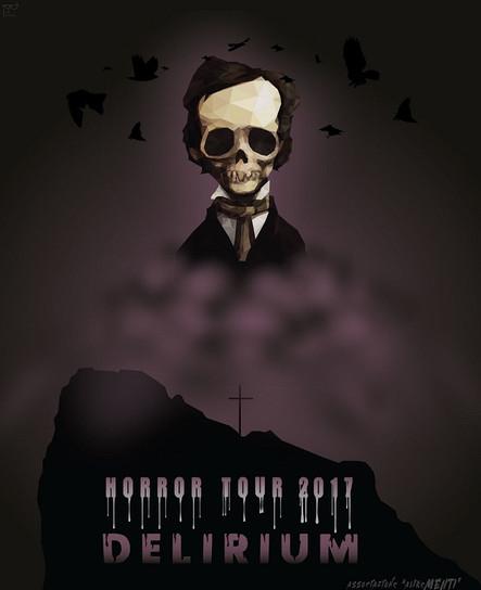 Allan Poe Skull