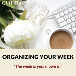 Organizing Your Week