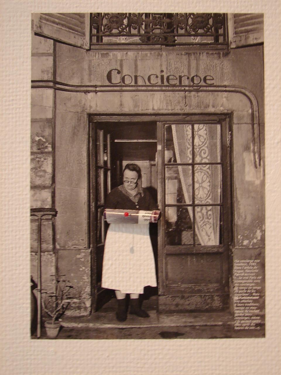 Femme sardine: la Concierge